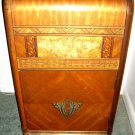 Charming 1930's Waterfall Inlayed Side table, End Table, Cabinet