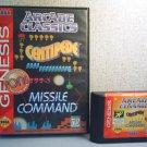 ARCADE CLASSICS - CENTIPEDE / MISSLE COMMAND / PONG - Sega Genesis Video Game