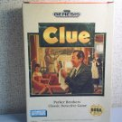 CLUE - PARKER BROS. CLASSIC DETECTVE GAME - Sega Genesis Video Game