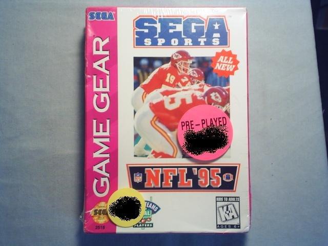 SEGA SPORTS NFL 95  SEGA GAME GEAR VIDEO GAME