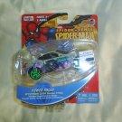 SPIDER SENSE SPIDER MAN POWER RACER MOTORIZED PULL-BACK DIE-CAST VEHICLE - MYSTERIO 2009 NISSAN 370Z