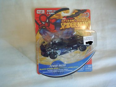 SPIDER SENSE SPIDER MAN POWER RACER  MOTORIZED  DIE-CAST VEHICLE- Black Spiderman Dodge Viper GT2