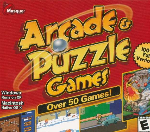 Arcade & Puzzle Game Over 50 Complete Games (Free Shipping)