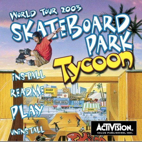 WORLD TOUR 2003 SKATEBOARD PARK TYCOON - NEW- FREE SHIPPING-