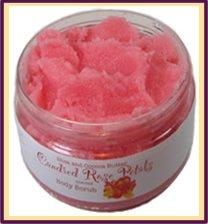 Candied Rose Petals Sugar Scrub