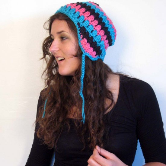 Crochet Pattern for Beanie with Ear Flaps