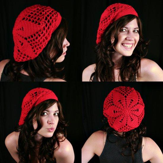 Crochet Pattern for Starburst Beret