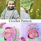 Crochet Pattern for Baby Bobble Beanie - Sizes Newborn-Toddler