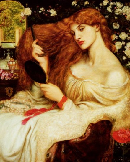 LADY LILITH Fine Art Painting on Canvas Dante Gabriel Rossetti