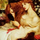 LADY LILITH Fine Art Painting on Canvas Dante Gabriel Rossetti