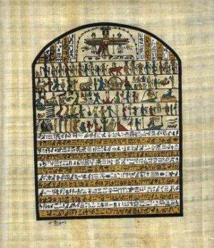 ANCIENT EGYPTIAN HIEROGLYPHICS - Handmade on Egyptian Fine Art Papyrus - Direct from EGYPT