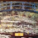 BRIDGE OVER A POND OF WATER LILIES Fine Art Print Repro by Artist CLAUDE MONET