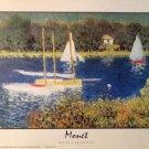 LE BASSIN D'ARGENTEUIL Fine Art Print Repro by Artist CLAUDE MONET