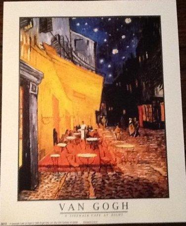 THE CAFE TERRACE ON THE PLAZA DU FORUM ARLES AT NIGHT Fine Art Print Repro Artist VINCENT VAN GOGH