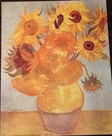 SUNFLOWERS Fine Art Print Repro by Artist VINCENT VAN GOGH