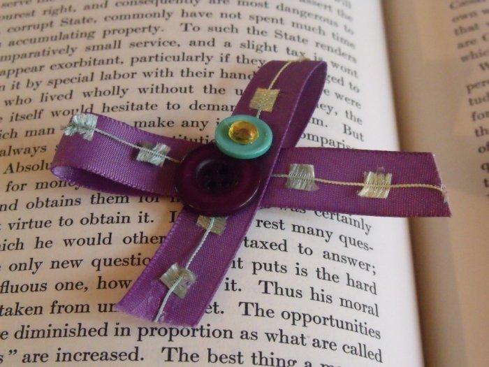 Aqua and Purple Bow