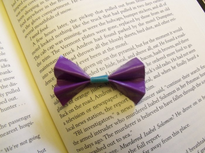 Tiny Purple and Teal Bow