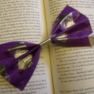 Purple and Silver Square Bow