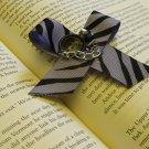 Purple and Black Zebra Bow