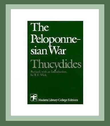 THE GREEK & PELOPONNESIAN WAR Hardback History Book by THUCYDIDES - Athens & Sparta 431-404 BC