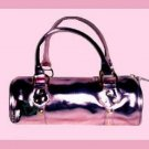 HOT PINK and Gold Roll Purse Handbag Evening Bag