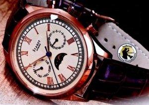 BRAND NEW Stauer Legacy Automatic 27 Jewel Gold Wrist Watch