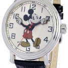 Vintage Disney Mickey Mouse Quartz Watch with Leather Band