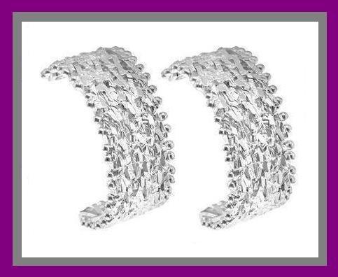 STERLING SILVER FANCY DESIGN POST EARRINGS - NEW!