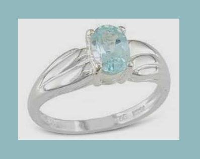 SPARKLING 0.85CT SWISS BLUE TOPAZ OVAL CUT GEMSTONE & STERLING SILVER RING - NEW!
