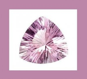 3.00ct LILAC AMETHYST Trillion Quantum 9.25mm Faceted Loose Gemstone 100% Real Natural Genuine
