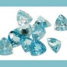 3.25ctw BLUE ZIRCON Trillion 4mm Faceted Gemstones Parcel - 100% Real Natural Authentic Genuine!