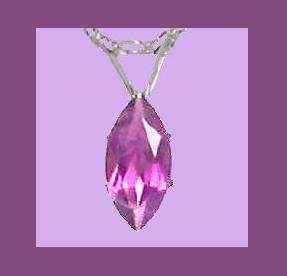 2.00ct MARQUISE CUT AMETHYST PENDANT & 22 Inch STERLING SILVER CHAIN NECKLACE - NEW!