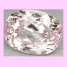 13.86cts Light Pink KUNZITE Oval Cut Faceted Gemstone - 100% Real Natural Authentic Genuine!