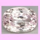 10.44cts White KUNZITE Oval Cut Faceted Gemstone - 100% Real Natural Authentic Genuine!