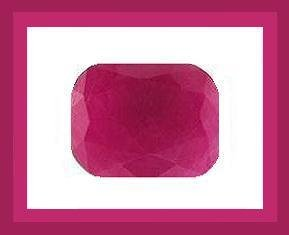 RUBY Blood Red 2.00ct Cushion Cut 8x6 Faceted Gemstone 100% Real, Natural, Genuine and Authentic!
