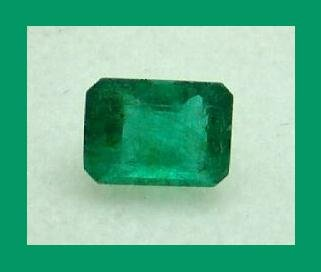 EMERALD 0.85ct Emerald Cut 6x4mm Faceted Gemstone - 100% Natural, Genuine, and Authentic!