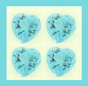 2.00ctw SWISS BLUE TOPAZ Heart 5x5mm Faceted Loose Gemstone Parcel 100% Real Natural Genuine