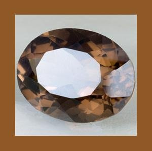 12.00cts SMOKY QUARTZ Oval 15x13mm Faceted Loose Gemstone - 100% Natural Real Genuine
