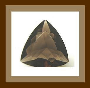 10.00cts SMOKY QUARTZ Trillion 11.5mm Faceted Loose Gemstone - 100% Natural Real Genuine