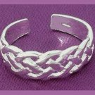 Celtic Rope Braided Design Sterling Silver Toe Ring