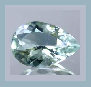 AQUAMARINE 1.26ct Pear Cut 8x5mm Light Blue Faceted Natural Loose Gemstone