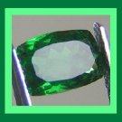 CHROME DIOPSIDE 0.40ct Rectangle 5.35x.3.53mm Faceted Natural Loose Gemstone