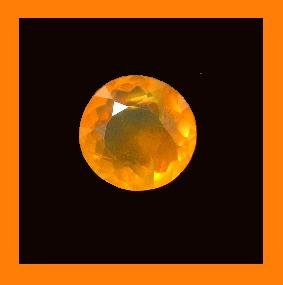 FIRE OPAL 0.30ct Round 4.22mm ORANGE Faceted Loose Gemstone - 100% Real Natural Genuine