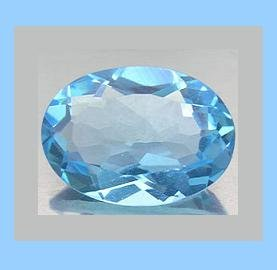 SWISS BLUE TOPAZ 0.74ct Oval 6x4mm Faceted Natural Loose Gemstone