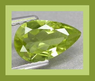 PERIDOT 0.74ct Pear Cut 7x5mm Green Faceted Natural Loose Gemstone