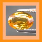 Orange SAPPHIRE 0.30ct Oval 4.5x3.4mm Faceted Gemstone - 100% Real, Natural, Genuine, and Authentic!