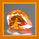 Orange SAPPHIRE 0.32ct Pear Cut 4.6x3.1mm Faceted Gemstone - 100% Real Natural Genuine Authentic!