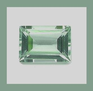 PRASIOLITE 1.00ct Rectangle 6.6x4.4mm COLOR CHANGE Faceted Gem 100% Real Natural Genuine Authentic!