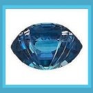 12.00ct BLUE TOPAZ Marquise Football Cut 17x13 Faceted Loose Gemstone - 100% Real Natural Genuine