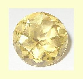 GOLDEN YELLOW BERYL 1.40ct Round Cut 8mm Faceted Natural Loose Gemstone